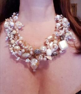 Collana artigianale perle e conchiglie | Collane gioiello online