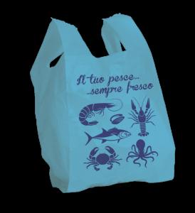 Shopper pesce formato shopper: 27+7+7x50 cm.