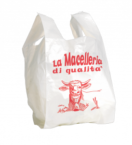 Shopper macelleria formato shopper: 27+7+7x50 cm.