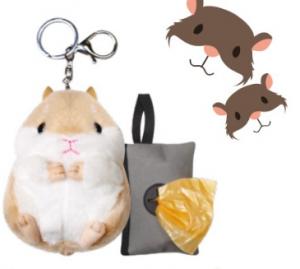 Portachiavi+ Portasacchetti HAMSTER  con rotolo sacchetti igienici da 20pz per cani CROCI