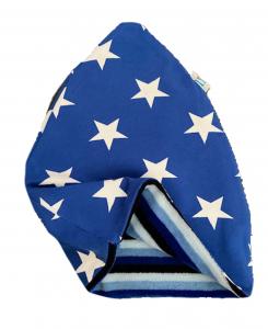 Stelle blu cappello doppio caldo
