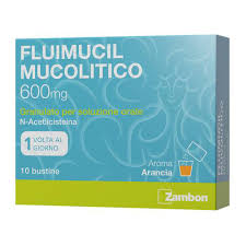 Fluimucil 10 bustine 600 mg 1 al giorno