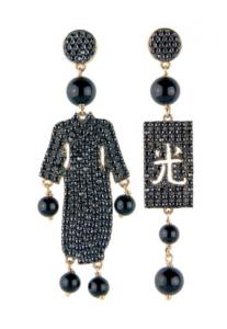 Orecchini Kimono Must Pietra Nero