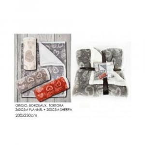 General Trade Coperta Hearts 200x230 cm