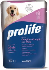 PROLIFE BUSTA QUAGLIA, CONIGLIO MELE 300 GR
