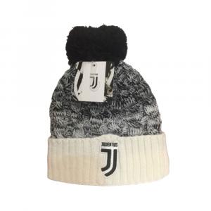 Cappello Juventus invernale pon pon bianco e nero