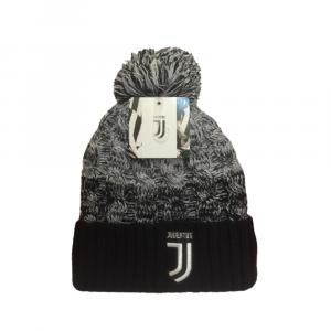 Cappello Juventus invernale pon pon nero