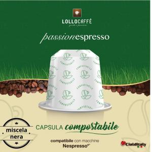 Lollo 12 capsule compostabili per sistema nespresso miscela nera