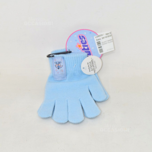 Gloves Baby Girl / Or Cuties Blue Disney Nuovi