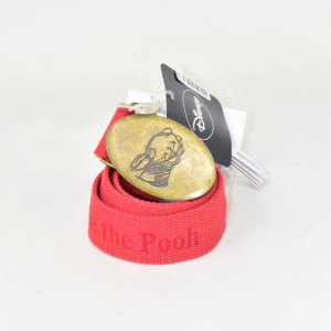 Belt Dinsey Winnie The Pooh In Fabric,red,new