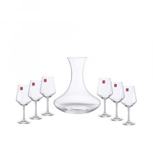 Servizio Degustazione Universum In Vetro Cristallo Trasparente Composto 1 Da Decanter 2 Lt E 6 Calici Vino 55 Cl