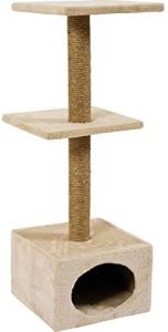 Zolux Duo - Tiragraffi per gatti, 30 x 30 x 83 cm, colore: Beige