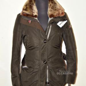 Vest Woman Peuterey Original Size 40 Color Brown