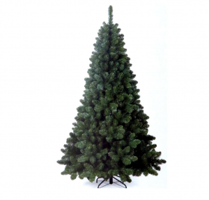 Albero di Natale cm 210 base in metallo verde