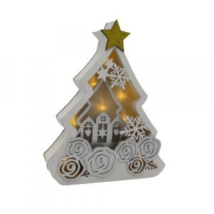 Wald albero di Natale legno retro illuminata legno 28cm