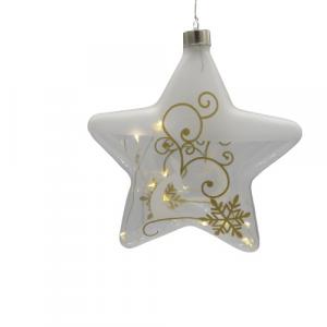 Wald stella vetro soffiato decorazione casa oro 18cm