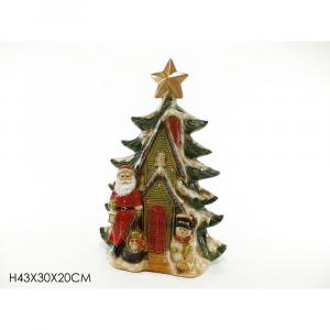 Casetta Albero di Natale In Ceramica H43x30x20 cm