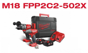 KIT 18V FUEL TRAPANO + AVVITATORE + BATTERIE