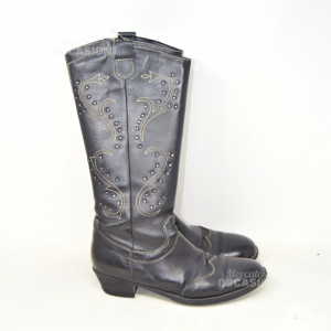 Ankle Boots Leather Black Geoxn° 38