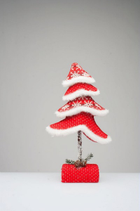 Andrea Fontebasso by Tognana - ALBERO-POIS E STELLE CM 38 Red christmas