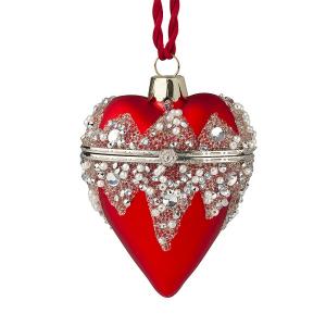 Hervit - cuore vetro apribile rosso