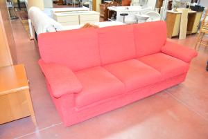 Sofa Three Seats Red