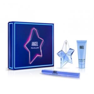 Mugler Angel Eau De Parfum Spray Ricaricabile 25ml Set 3 Parti 2020