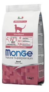 MONGE NATURAL SUPERPREMIUM GATTO STERILISED MANZO 1,5KG