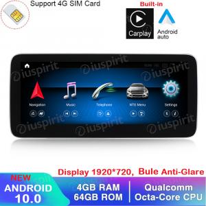ANDROID navigatore per Mercedes Classe A W176 Classe GLA X156 Classe CLA W117 2013-2015 NTG 4.5 10.25 pollici 4GB RAM 64GB ROM Octa-Core Car Play Android Auto Bluetooth GPS WI-FI