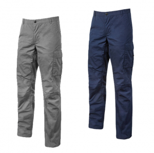 PANTALONE DA LAVORO IN COTONE Primavera/Estate Slim Fit - Mod. OCEAN - EY123 UPOWER