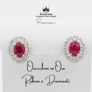 Orecchini di Rubini e Diamanti