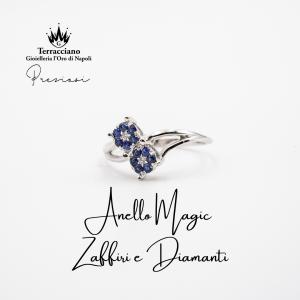 Anello Magic con Zaffiri e Diamanti
