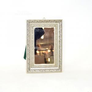 Specchio Con Cornice Grigia 18x26 Cm