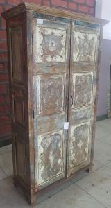 Armadio con 2 ante portale indiano in legno di teak