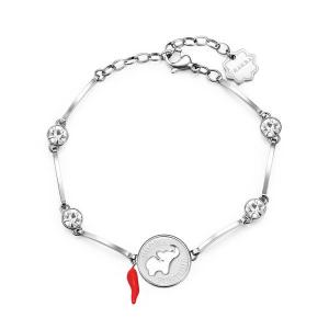 Brosway - Bracciale CHAKRA in acciaio, medaglietta elefante e cristalli crystal