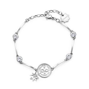 Brosway - Bracciale CHAKRA in acciaio, medaglietta infinito e cristalli crystal