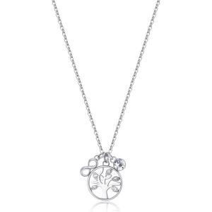 Collana CHAKRA della Brosway in acciaio, medaglietta albero della vita e cristalli crystal