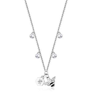 Collana CHAKRA della Brosway in acciaio, pendente a forma di ape e cristalli crystal