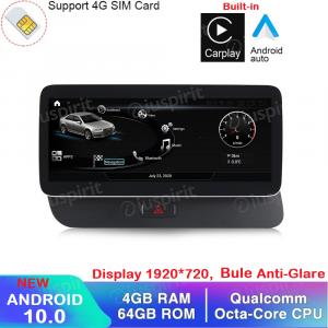 ANDROID navigatore per Audi Q5 2009-2017 MMI 3G 10.25 pollici 4GB RAM 64GB ROM Octa-Core Car Play Android Auto Bluetooth GPS WI-FI