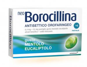 NEOBOROCILLINA ANTISETTICO OROFARINGEO 16 PASTIGLIE MENTA