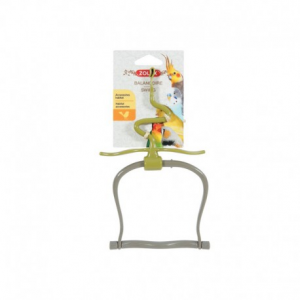 Giochi per uccelli pappagalli Altalena in plastica con foglie Zolux