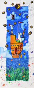 Agostini Andrea Ecco la magia... Serigrafia formato cm 50x20