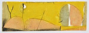 Cascella Tommaso Notte di piena Estate Incisione Formato cm 35x100