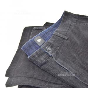 Pants Man Hugo Boss Black Gessati,fabric Heavy Size.60