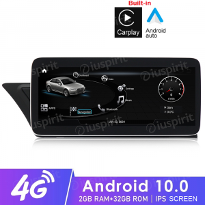 ANDROID navigatore per Audi A4 A5 S5/RS4/RS5/8K/B8/8T/4L 2008-2016 MMI 3G 10.25 pollici 2GB RAM 32GB ROM Octa-Core CarPlay Android Auto Bluetooth GPS WI-FI