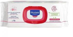 Mustela salviettine detergenti lenitive 70 pz