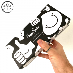 Happy Socks - Black and White - Gift Box 4-Pack