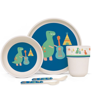 Set pappa in bamboo dinosauro Penny Scallan design