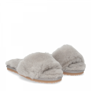 Mou sheepskin fur slide slipper light