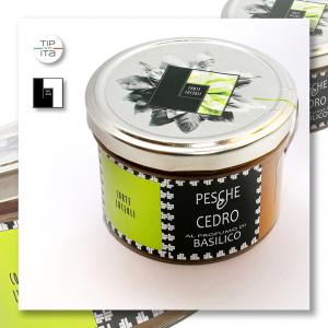 Composta di Pesche & Cedro al profumo di Basilico - 250gr